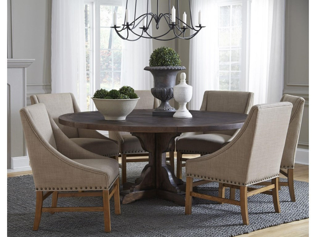 Modus International Crossroads7-Piece Philip Solid Wood Round Table Set