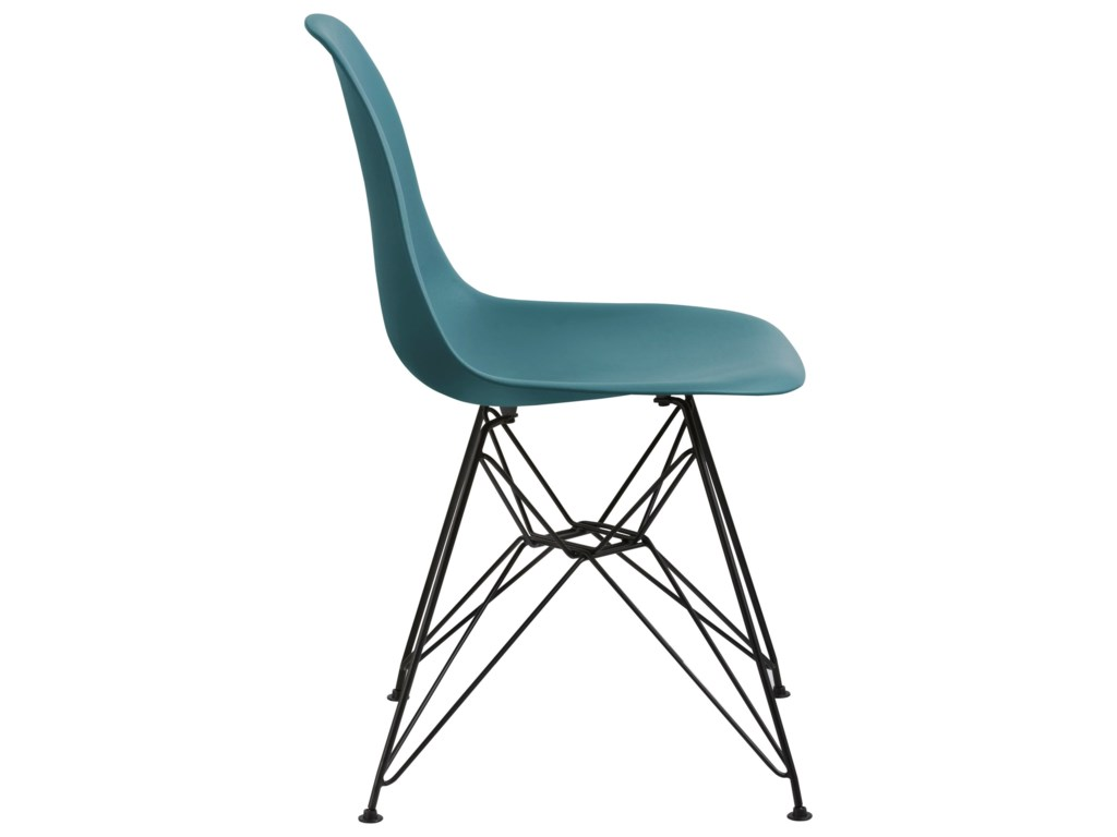 Modus International CrossroadsRostock Molded Plastic Wire Base Chair