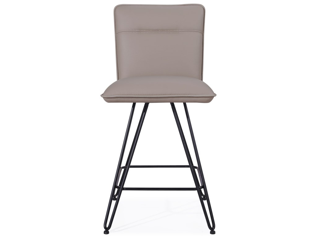 Modus International CrossroadsDemi Hairpin Leg Swivel Counter Stool