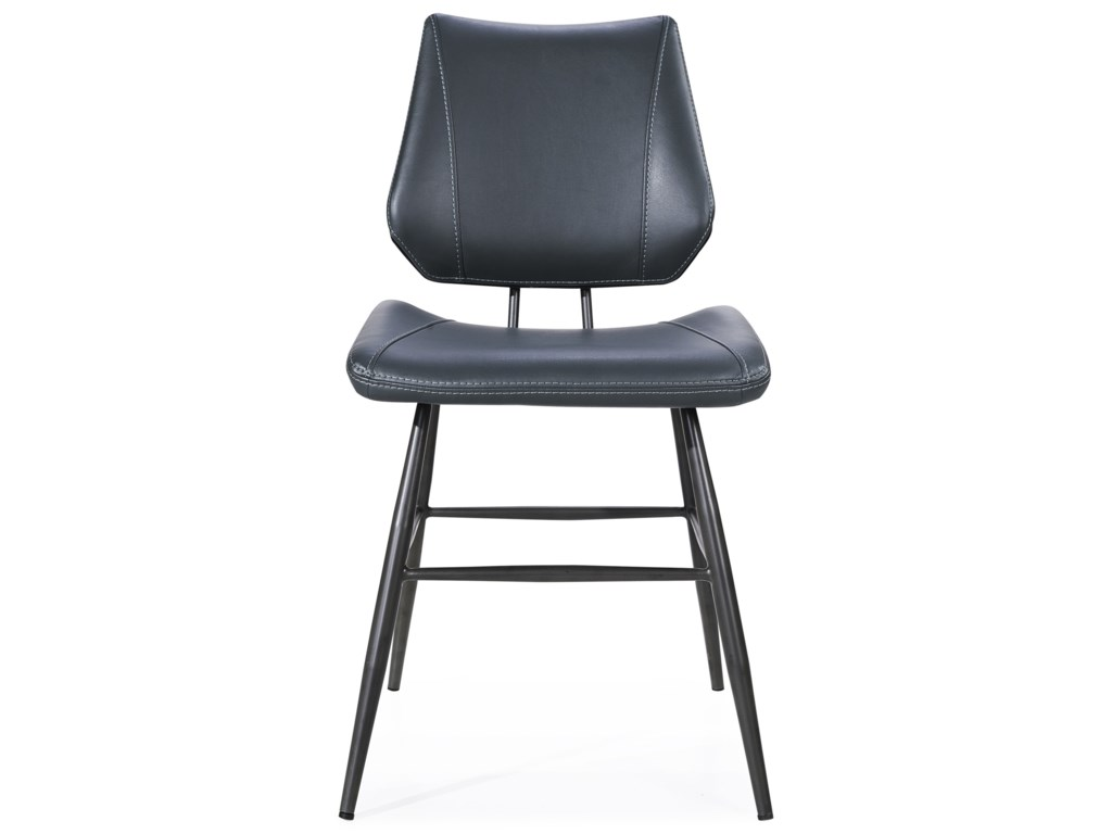 Modus International CrossroadsVinson Sculpted Modern Dining Chair in Cobal
