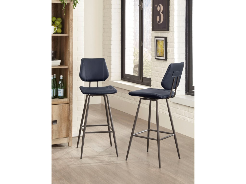 Modus International CrossroadsVinson Modern Swivel Bar Stool