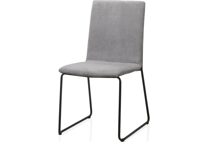 Modus International Crossroads Baird Upholstered Sled Base Dining Chair In Gray A1 Furniture Mattress Dining Side Chairs