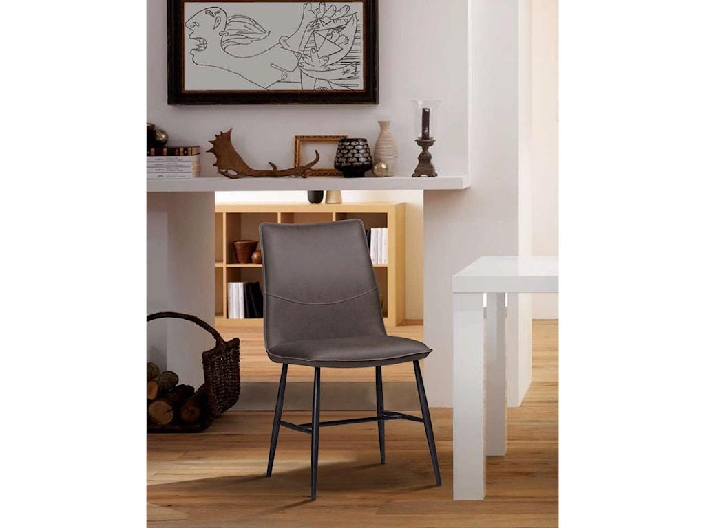 Modus International CrossroadsKara Scoop-style Modern Dining Chair
