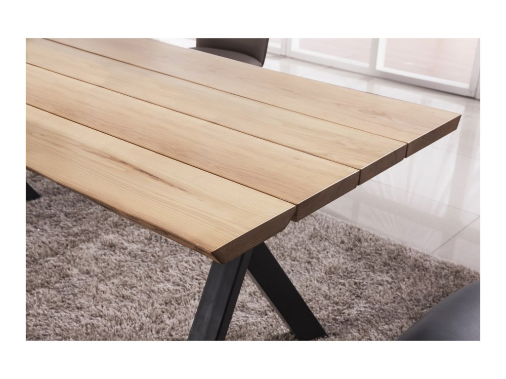 Modus International CrossroadsLive Edge Rectangular Table