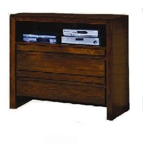 Modus International Element Contemporary Media Chest with Two Drawers and Wire Management Slots