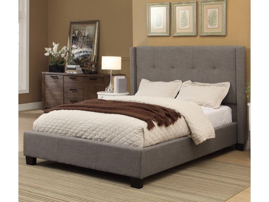 Modus International GenevaCal King Madeleine Platform Storage Bed