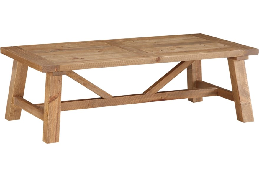 Modus International Harby 8w6821 Reclaimed Wood Rectangular Coffee Table In Rustic Tawny Del Sol Furniture Cocktail Coffee Tables