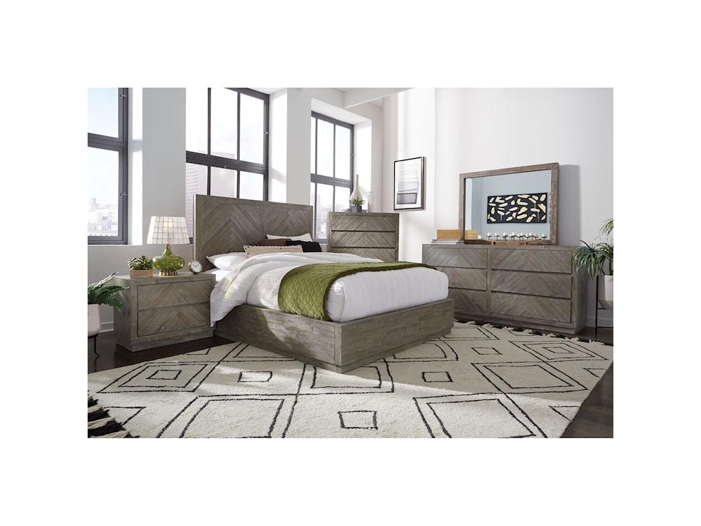 Modus International HerringboneCalifornia King Bedroom Group