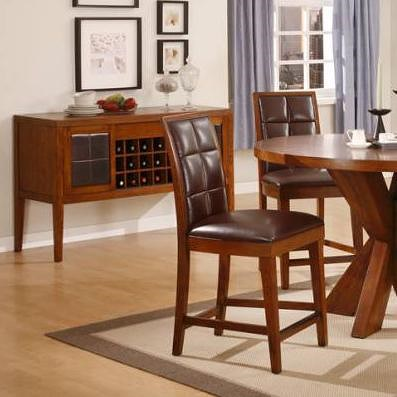 Modus International Hudson Counter Stool with Upholstered Seat and Back