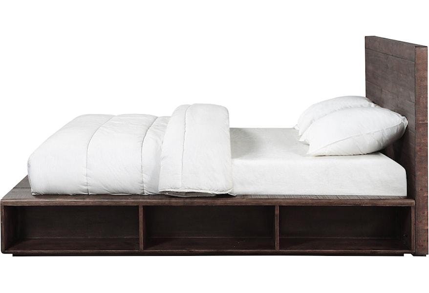 Modus International Mckinney Transitional Queen Platform Bed With Open Storage A1 Furniture Mattress Platform Beds Low Profile Beds