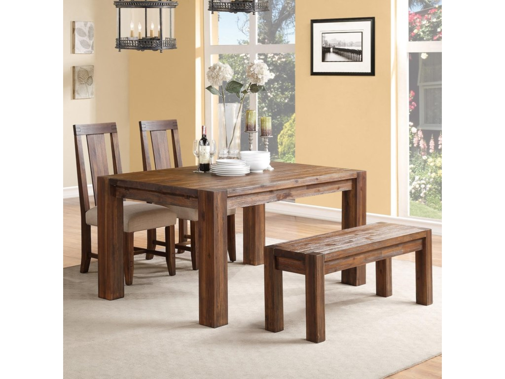 Modus International MeadowDining Table & Chair Set with Bench