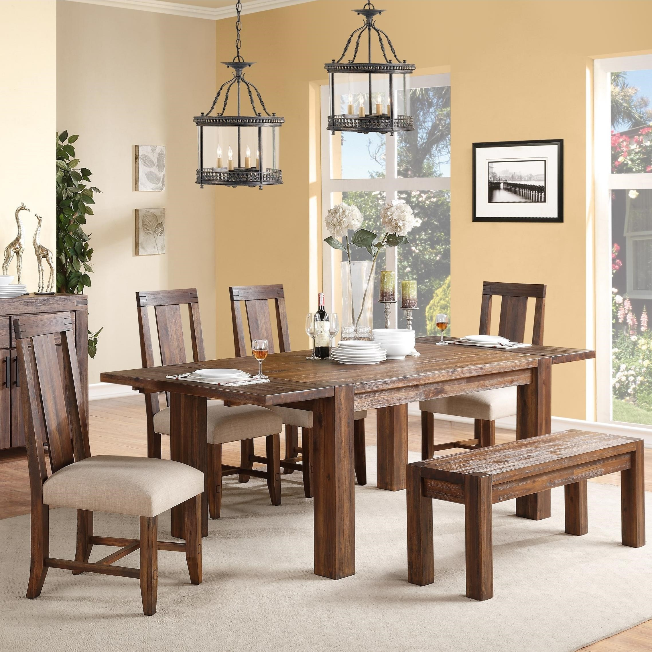 Camden Fields Dining Table U0026 Chair Set With Bench