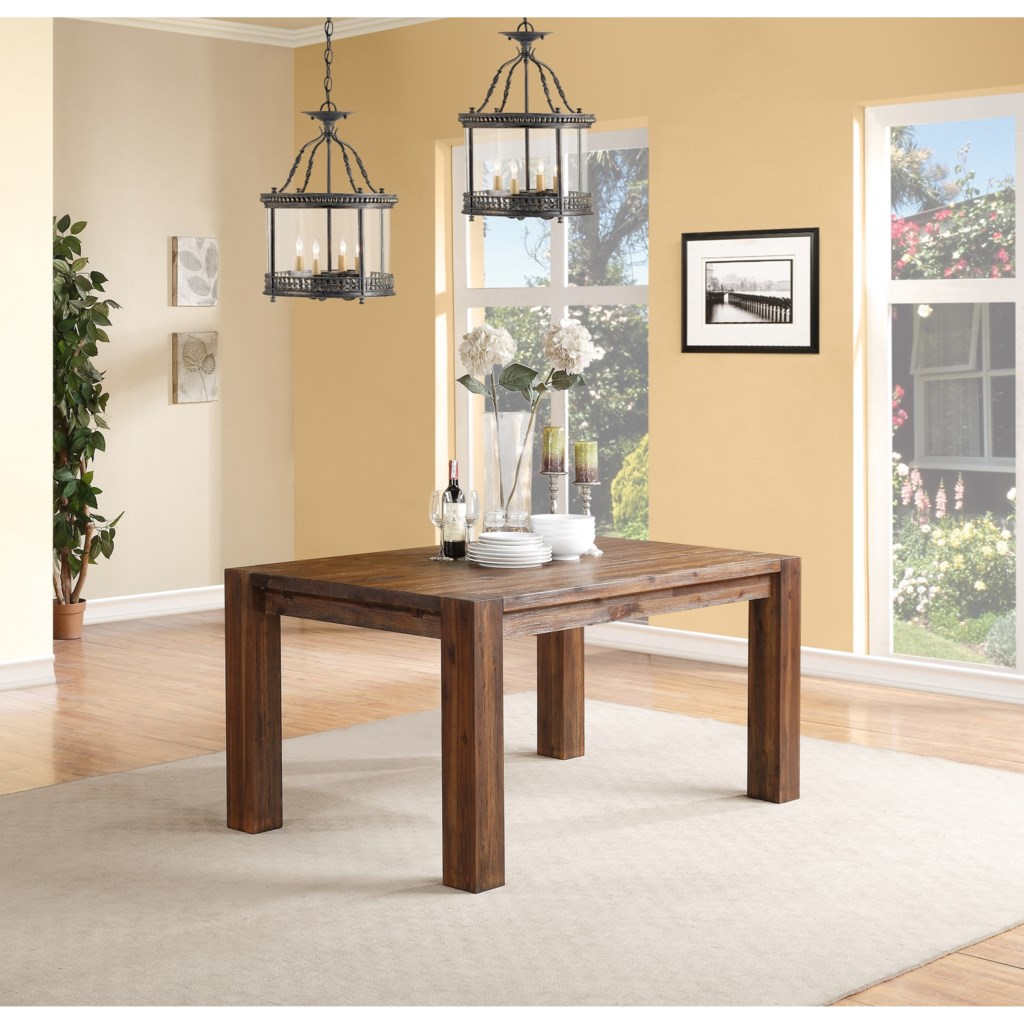 modus international meadow dining rectangle dining table with