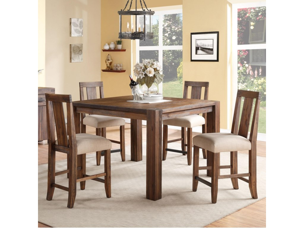 Modus International Meadow5-Piece Square Counter Table Set