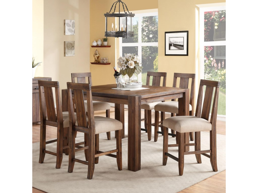 Modus International Meadow7-Piece Square Counter Table Set