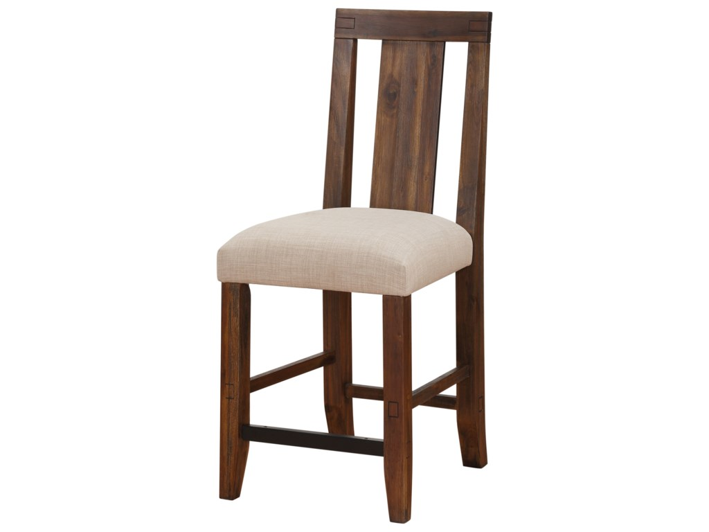 Modus International MeadowSolid Wood Upholstered Counter Stool