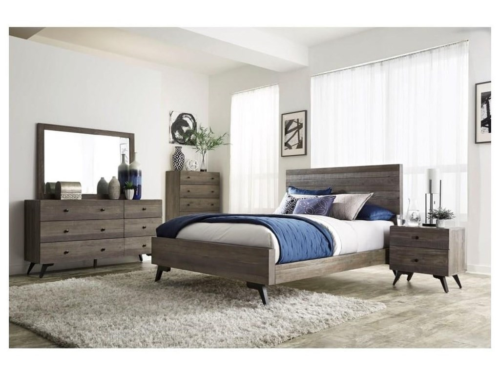 Modus International NevadaSolid Wood Queen Bedroom Set
