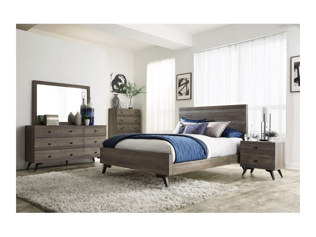 Modus International NevadaQueen Low-Profile Bed