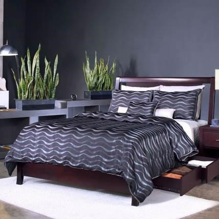 King Low Profile Bed with Storage