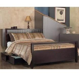 Modus International Nevis Queen Platform Bed With Storage Reeds Furniture Platform Beds Low Profile Beds