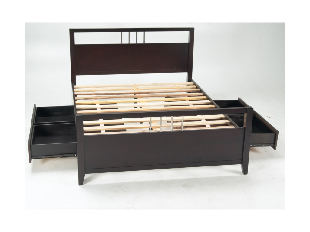 Modus International NevisQueen Platform Bed with Storage