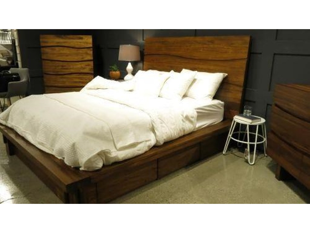 Modus International Ocean Full Platform Storage Bed Homeworld