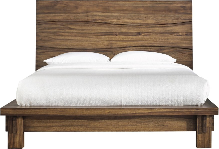 Modus International Ocean California King Bed With Wave Design