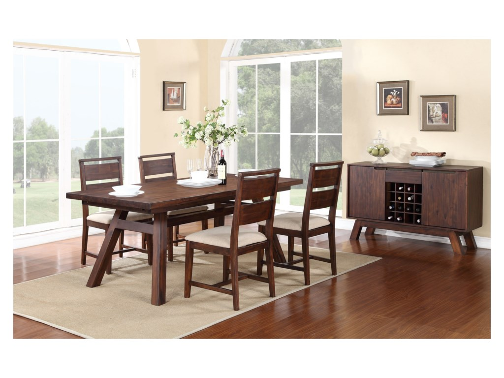 Modus International PortlandCasual Dining Room Group