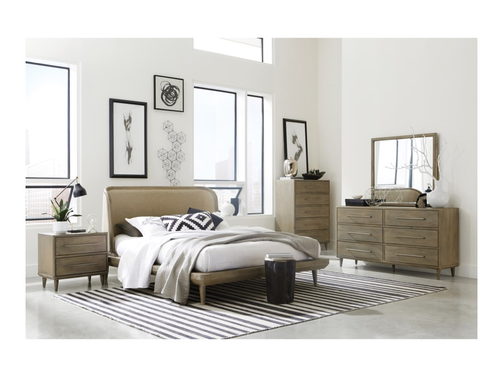 Modus International SpindleQueen Bedroom Group