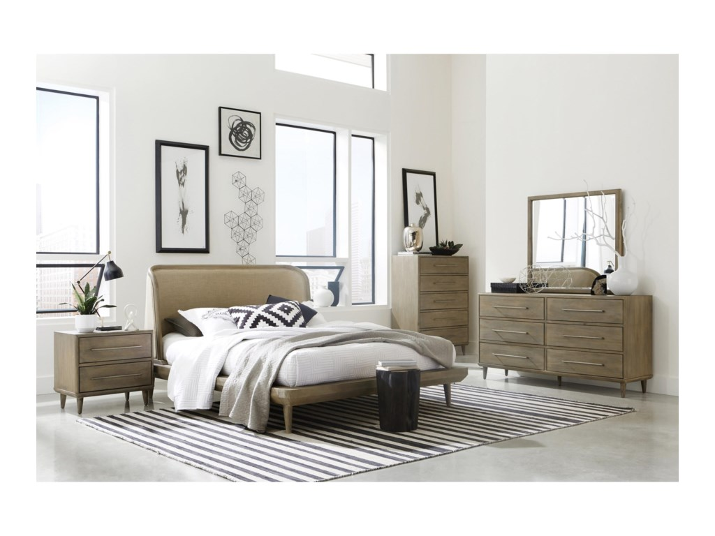 Modus International SpindleQueen Upholstered Bed