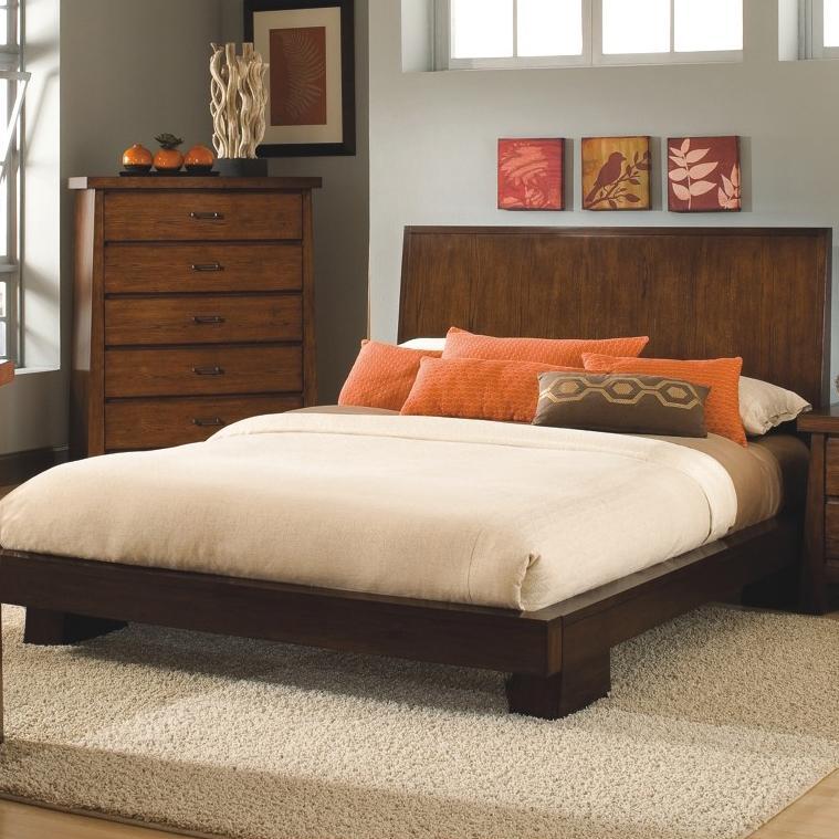 Modus International Stella Queen Contemporary Platform Bed With Block Feet