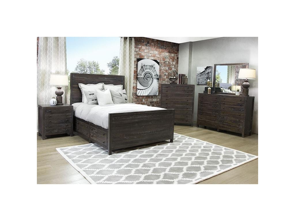 Modus International TownsendQueen Storage Bed