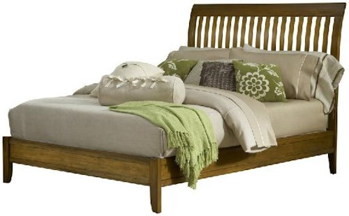 Modus International Trellis Mission California King Bed with Rake Slat Headboard