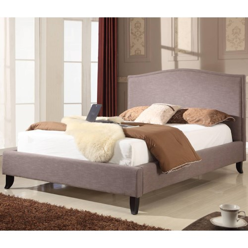 Modus International Upholstered Bedroom Queen Size Fabric Upholstered Bed