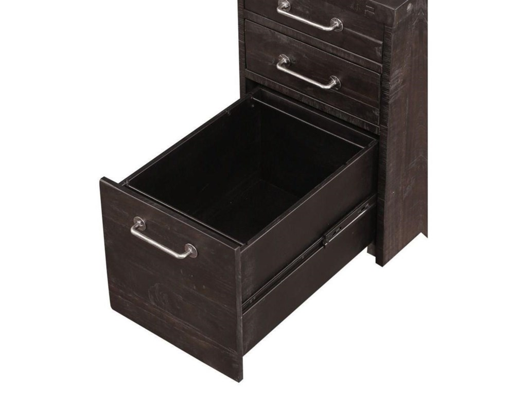 Modus International YosemiteSolid Wood Rolling File Cabinet