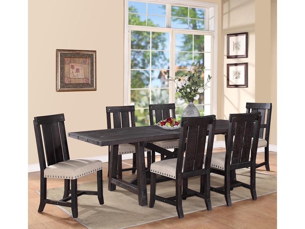 Modus International Yosemite7-Piece Rectangular Dining Table Set