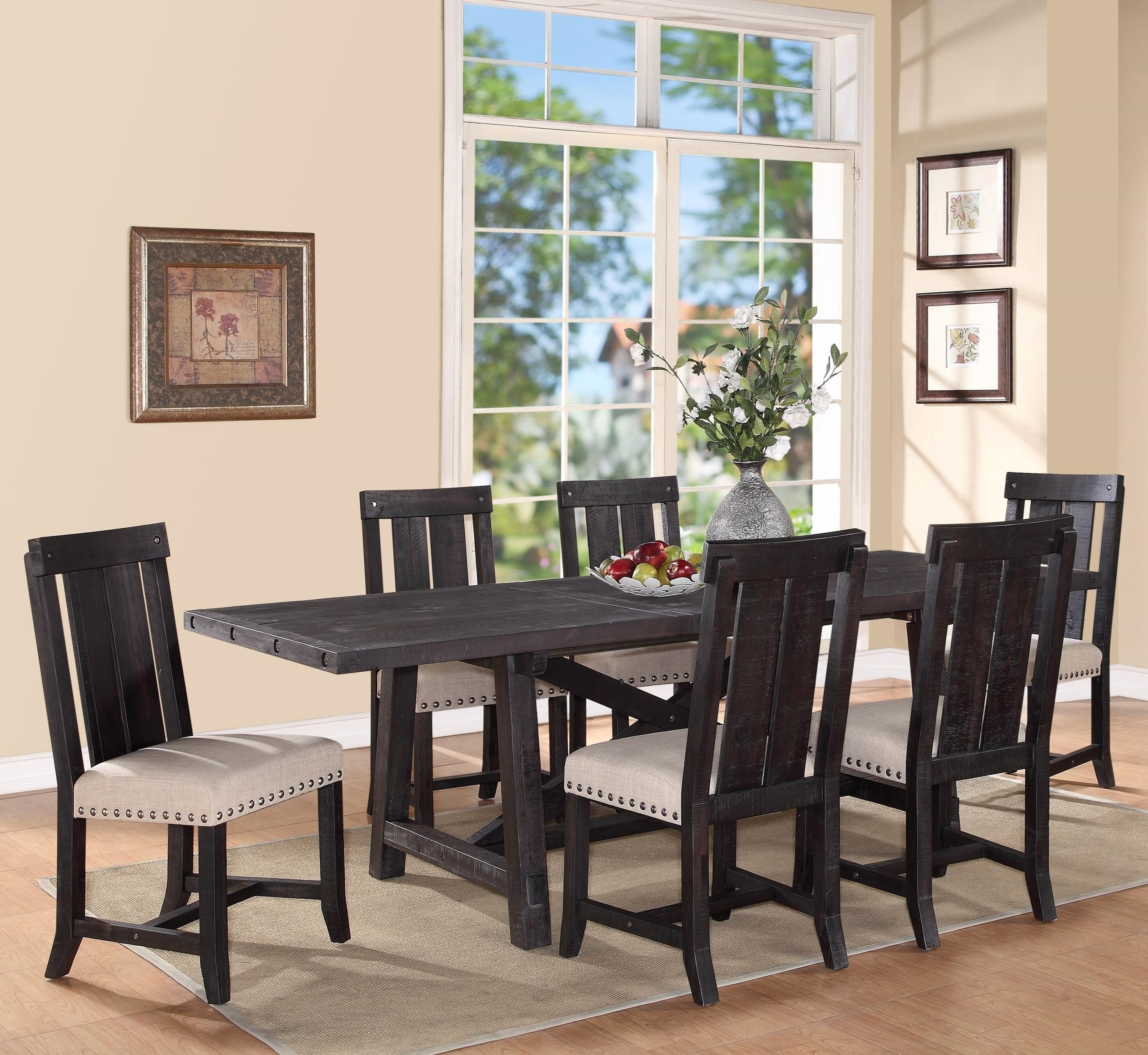 Modus International Zion7-Piece Rectangular Dining Table Set ...  sc 1 st  Ruby-Gordon Furniture u0026 Mattresses : dining table set 7 piece - pezcame.com