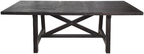 Modus International Yosemite Rustic Solid Wood Rectangle Table With Leaf