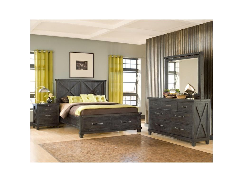 Modus International YosemiteQueen Solid Wood Storage Bed
