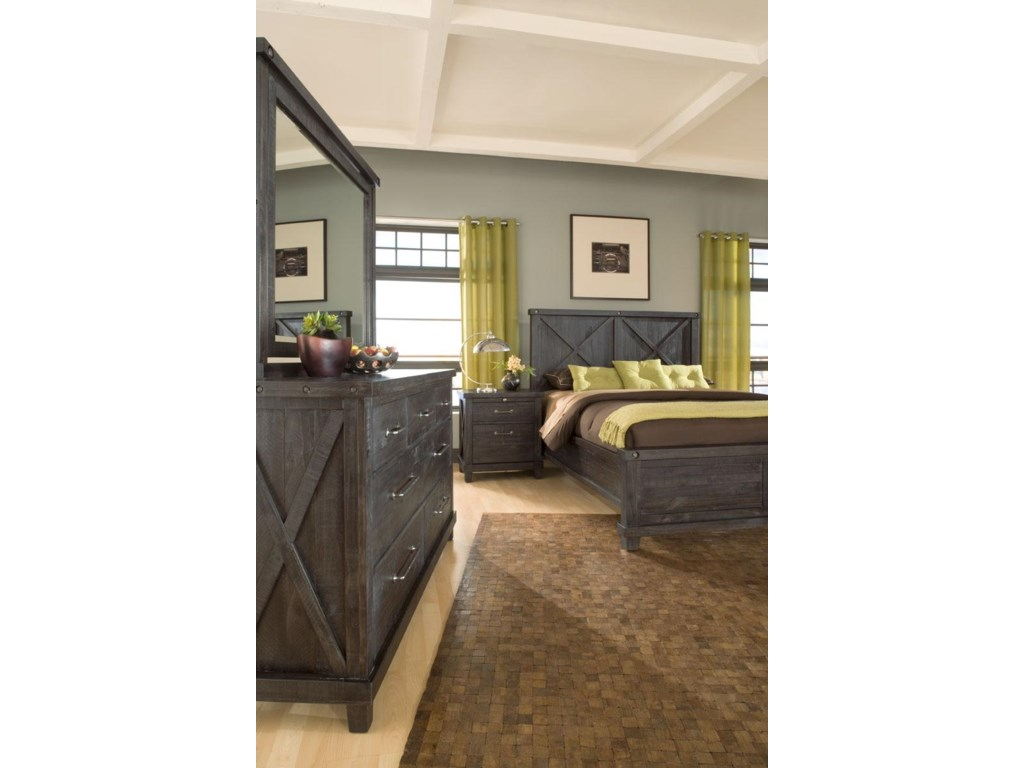 Modus International YosemiteLow Profile Cafe FL Wood Bed