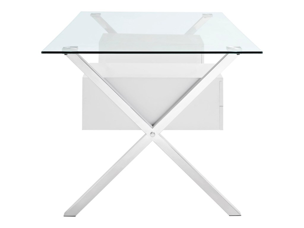 Modway AbeyanceGlass Top Office Desk