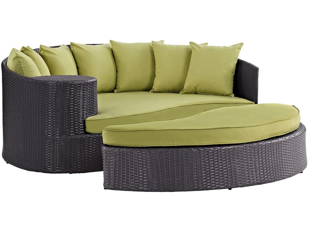 Modway ConveneOutdoor Patio Daybed ... - Modway Convene Outdoor Patio Daybed With Ottoman Value City