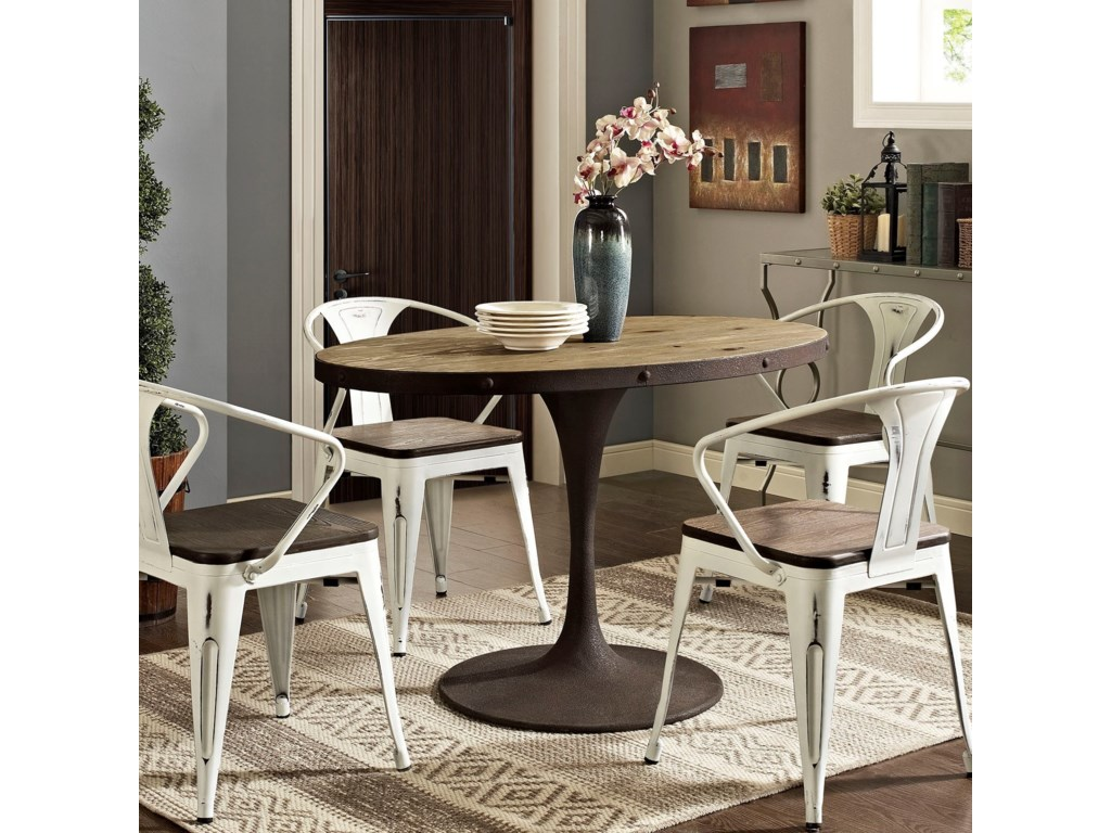 Modway DriveOval Dining Table