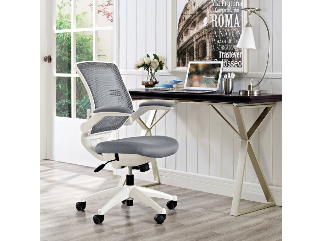 Modway EdgeWhite Base Office Chair