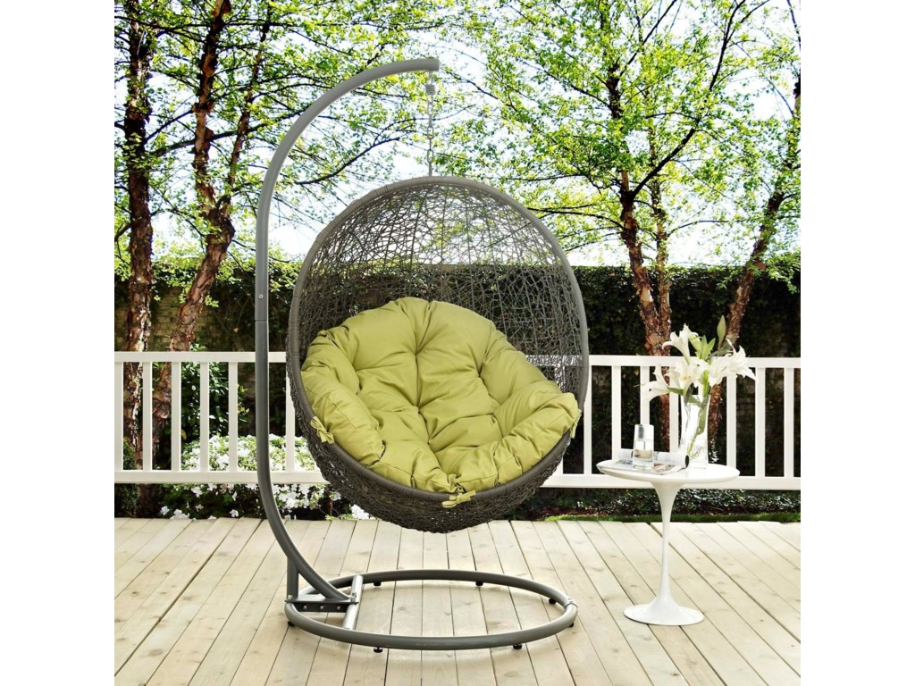 Modway HidePatio Swing Chair
