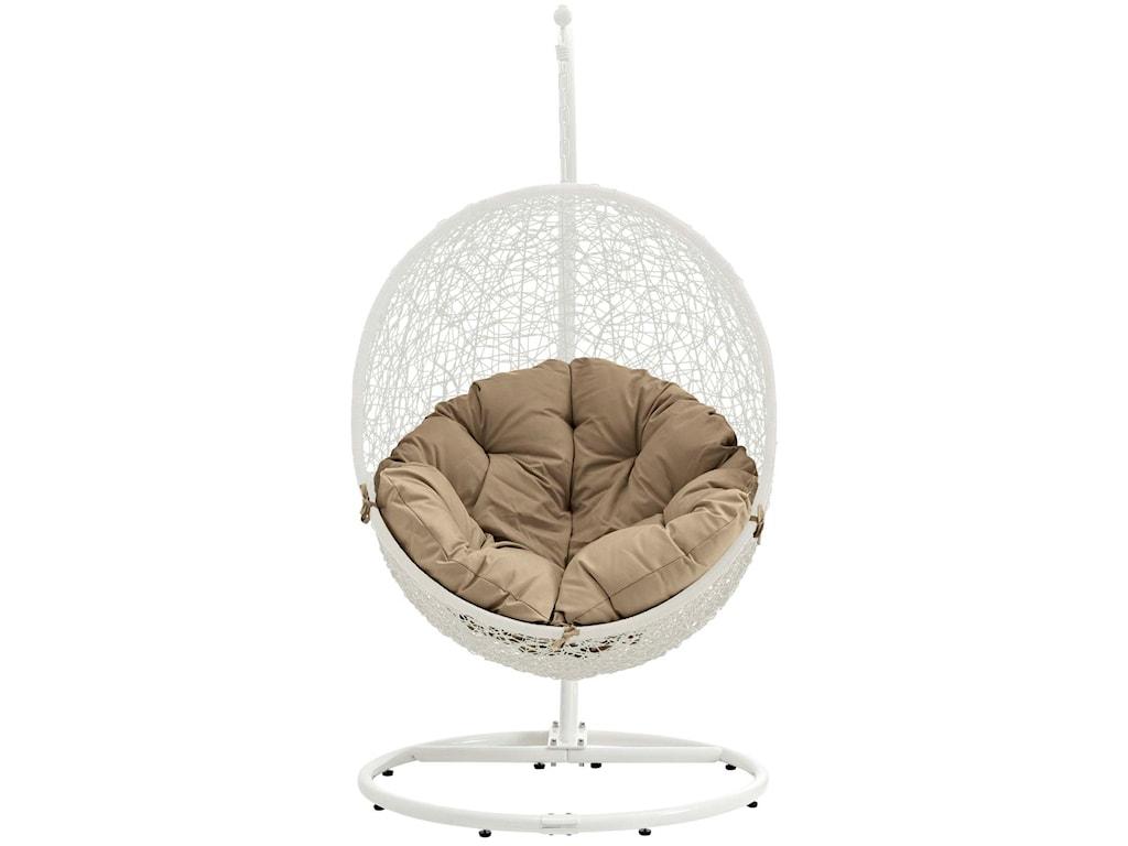 Modway HidePatio Swing Chair