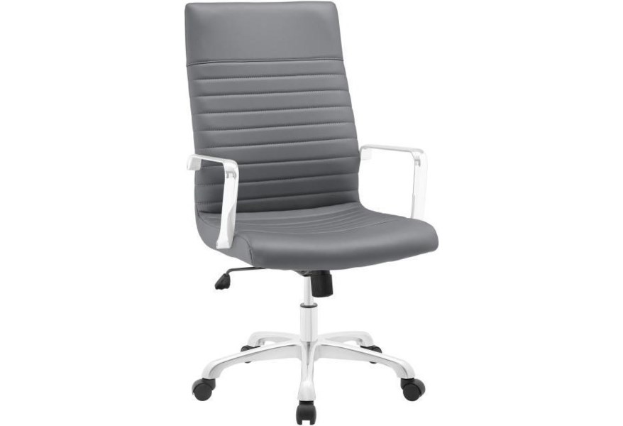 Modway Home Office Finesse Highback Office Chair In Gray Value City Furniture Office Task Chairs