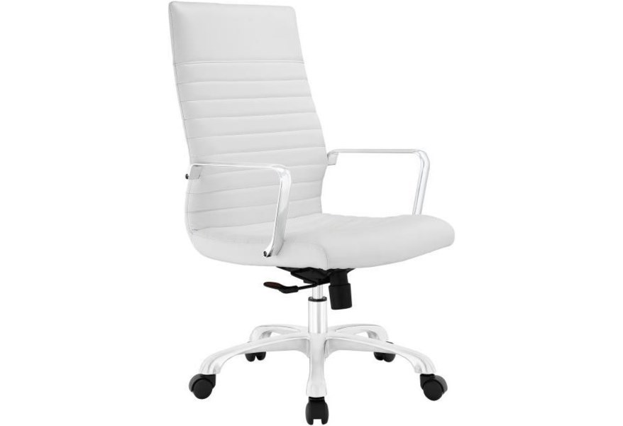 Modway Home Office Finesse Highback Office Chair In White Value City Furniture Office Task Chairs