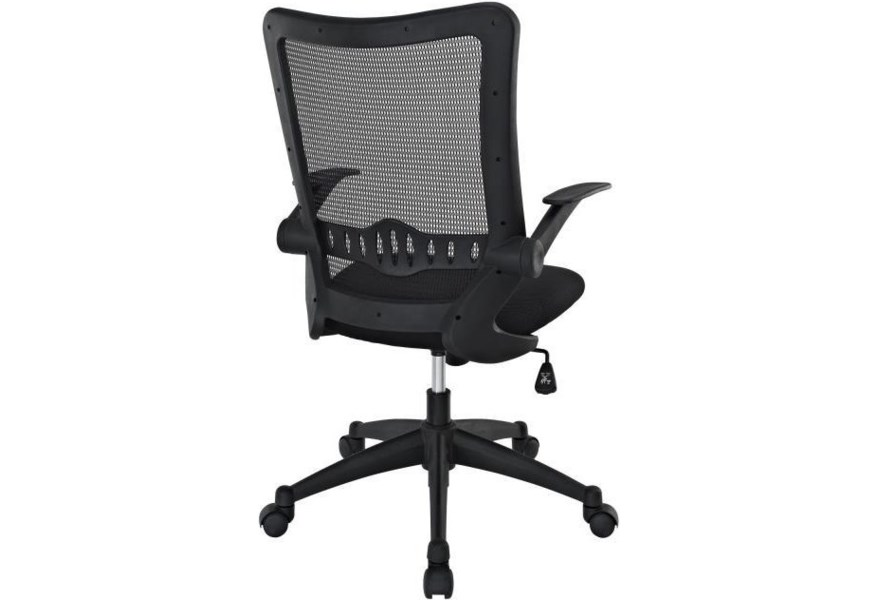 Modway Home Office Explorer Mid Back Mesh Office Chair In Black Value City Furniture Office Task Chairs
