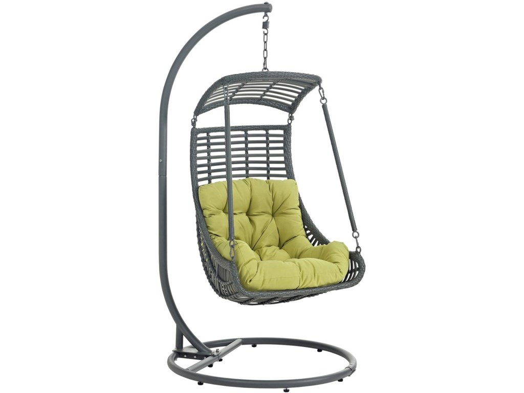 Jungle Outdoor Patio Swing Chair With Stand by Modway - Modway Jungle Outdoor Patio Swing Chair With Stand Value City